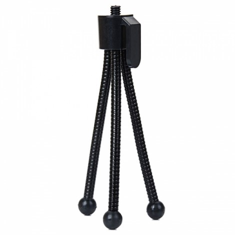 Stretchable Mini 4-inch Metal Tripod for Telescopes & Digital Cameras Black