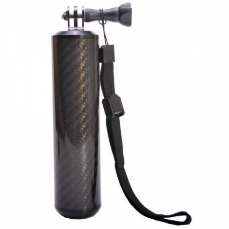 Carbon Fiber Floaty Bobber Stabilizer Grip for Gopro Hero 4 / 3+ / 3 / 2 / 1 Black