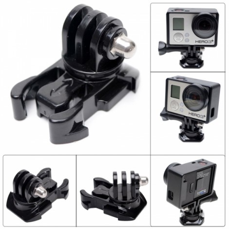 Fat Cat New Universal 360-Degree Rotary Fast Assembling Mount Buckle for GoPro Hero 4/3+/3/2/1 Black