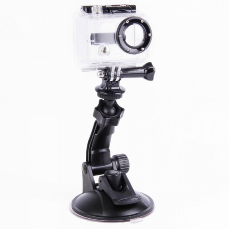 H027 360-Degree Rotatable Super Powerful Car Suction Cup Mount for GoPro Hero 3 +/3/2 Black