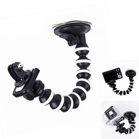 "10"" 360-Degree Rotatable Octopus Car Suction CUP Monopod Holder"