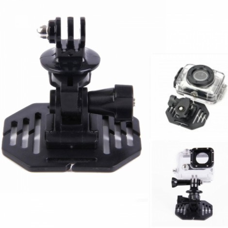 "H020 Universal 1/4"" Screw Helmet Mount Holder for DV/Sports Camera/GoPro Hero 2/3/3 + Black"