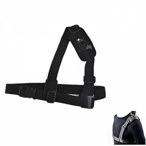 JUSTONE J007 New Adjustable Single Shoulder Strap for Sports Camera GoPro Hero 2/3/3 + Black