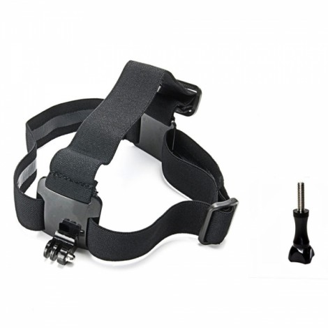 J109 Headband Holder + Long Screw for GoPro Hero Series/SJ5000/Sports DV Black