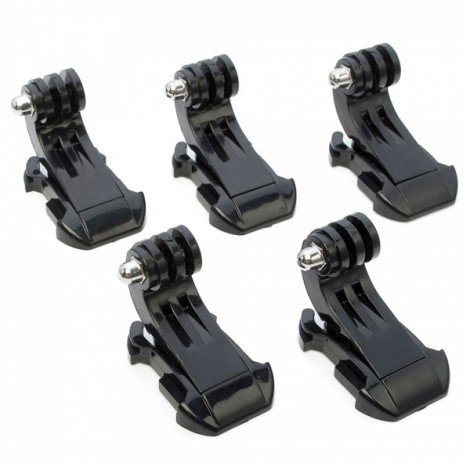 5pcs J-Shape Fast Assembling Mount Buckles for GoPro Hero 4/2/3/3+/SJ4000/SJ5000 Black