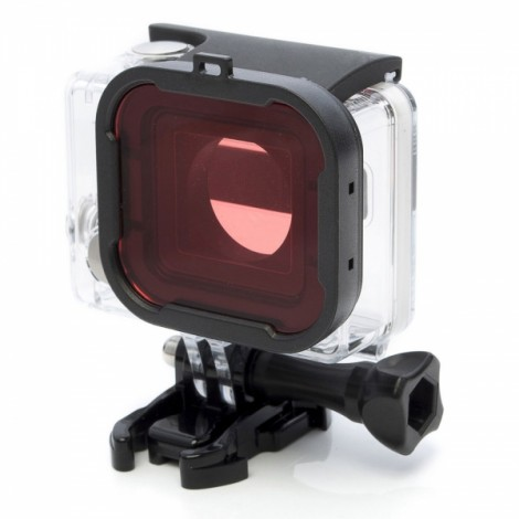 JUSTONE J049-4 58mm Professional Underwater Dive Filter Converter for GoPro Hero 3 + Black & Pink