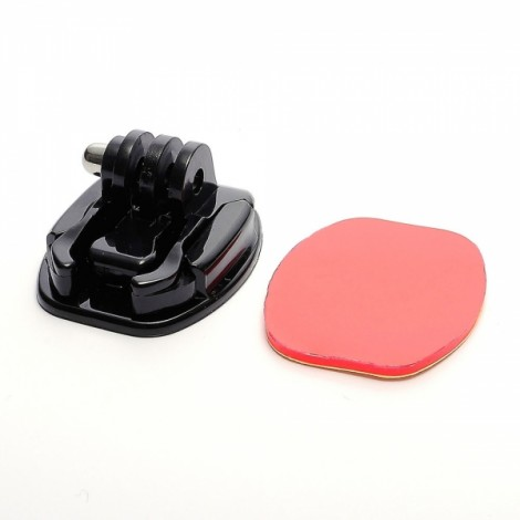 JUSTONE J068 Universal Round Flat Surface Mount Stand Kit with Adhesive Tape for GoPro Hero 4/3/3 +/2/1/SJ4000 Black & Red