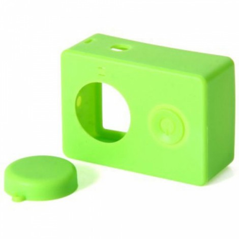 Housing Case Cover + Lens Cap Set for XiaoMi Yi Sports Camera Green