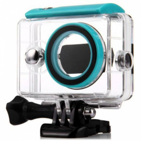 40m Wateproof Case for XiaoMi Yi Action Camera Transparent & Green