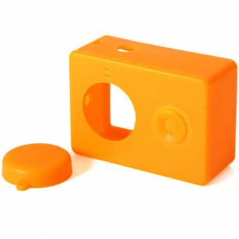 Housing Case Cover + Lens Cap Set for XiaoMi Yi Sports Camera Orange