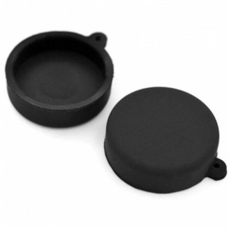 Silicone Lens Protective Cap for XiaoMi Yi Sports Camera Black