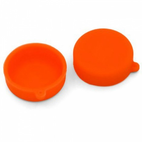 Silicone Lens Protective Cap for XiaoMi Yi Sports Camera Orange