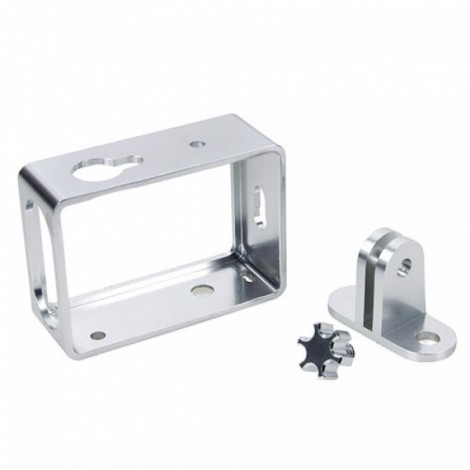 Aluminum Alloy Protective Cover Frame for XiaoMi Yi Sports Camera Silver