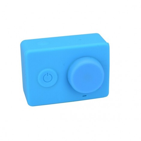Housing Case Cover + Lens Cap Set for Xiao Yi Sport Camera Blue