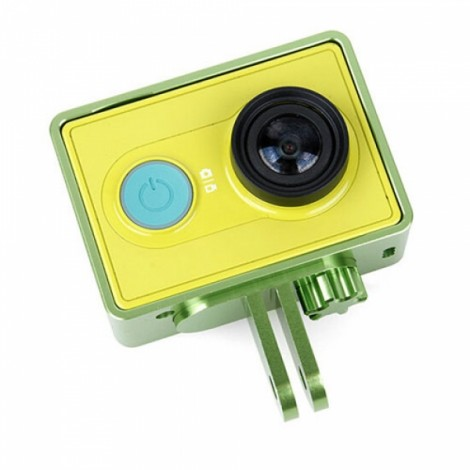 Aluminum Alloy Protective Cover Frame for XiaoMi Yi Sports Camera Green