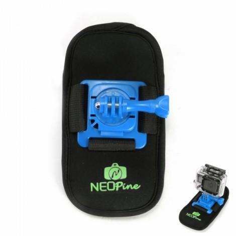NEOpine NSC-1 Camera Bag Design 360 Degrees Fixed Mount for GoPro Hero 2 / 3 / 4 Blue