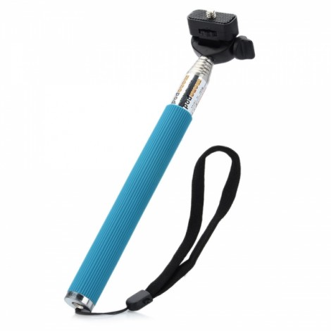 Retractable Aluminum Alloy Handheld Monopod Unipod for Digital Camera Blue & Silver & Black
