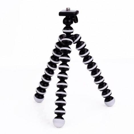 "6.5"" Mini Octopus Flexible Joints Camera Stand Tripod for SJ4000 / SJ5000 & GoPro Hero 1 / 2 / 3 / 3+ Black & White"