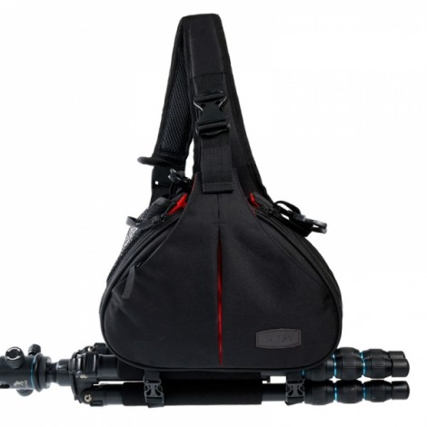 Simple Caden K1 Triangle Shoulder Camera Bag Black