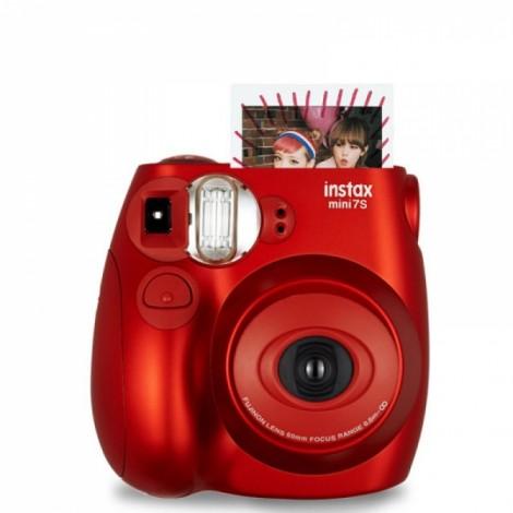 Fujifilm Instax MINI 7s White Instant Film Camera Metallic Red