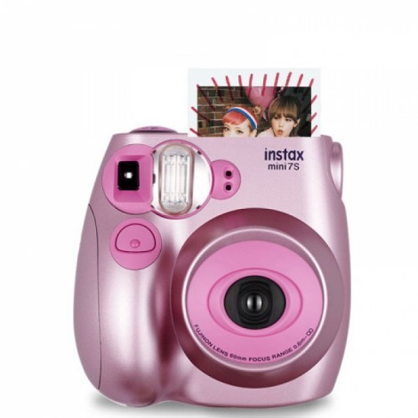 Fujifilm Instax MINI 7s White Instant Film Camera Metallic Pink