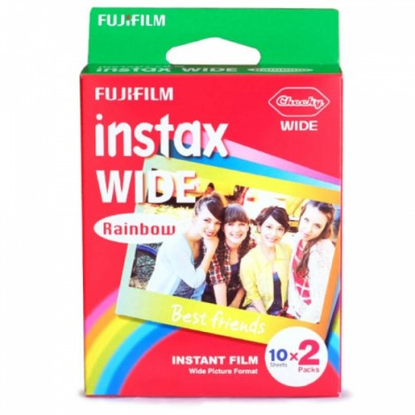 Fujifilm Instax Instant Wide Film 20 Rainbow Sheets Photo Papers for 300 200 210 100 500AF