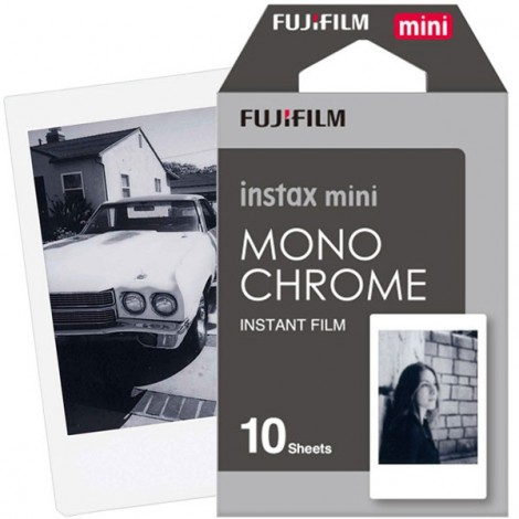 10pcs/Box Fujifilm Instax Mini Instant Film Monochrome Photo Papers