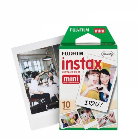 10pcs/Box Original Fujifilm Fuji Instax Mini 8 Film Blanc Photo Papers
