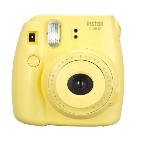 Fujifilm Instax MINI 8 White Instant Film Camera Yellow