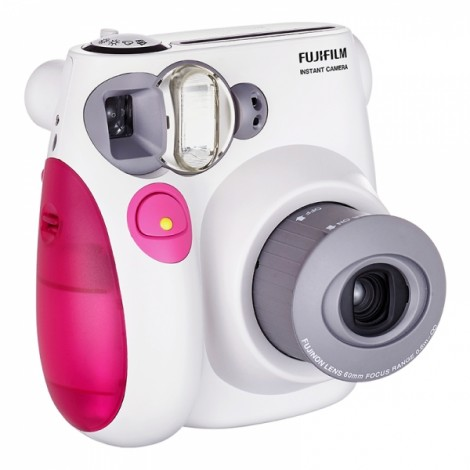 Fujifilm Instax MINI 7s White Instant Film Camera Pink