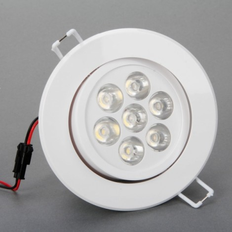 7W 560-630LM 2800-3000K Warm White Light High-power Ceiling Lamp with LED Driver White (85-265V)
