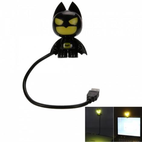 Creative Mini Batman USB LED Night Light Black & Yellow