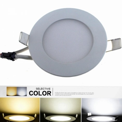 YX6+6 12W 960LM 6000K-3000K-4500K 24-SMD5630 LED Changeable Light Round Ceiling Lamp (AC 85-265V)