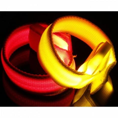 Outdoor Sports Party Fun 3 Mode Flashing LED Wristband Bracelet Yellow