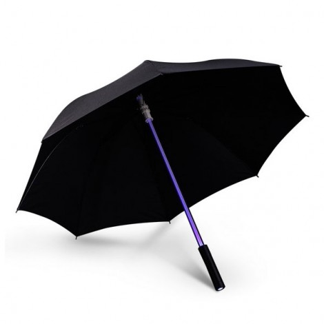 Fantastic LED Flashlight Night Protection Umbrella for Amusement Park Black