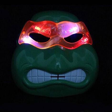 Halloween Costumes Cartoon Mask Teenage Mutant Ninja Turtles Light Emitting Cosplay Mask