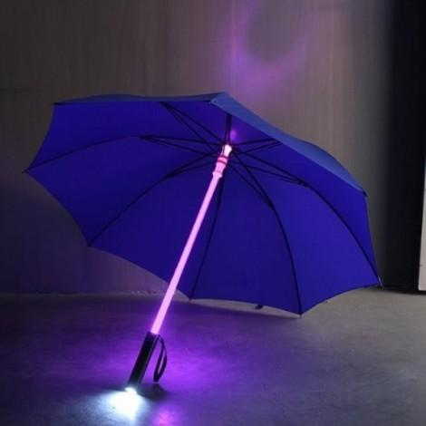 Fantastic LED Flashlight Night Protection Umbrella for Amusement Park Blue
