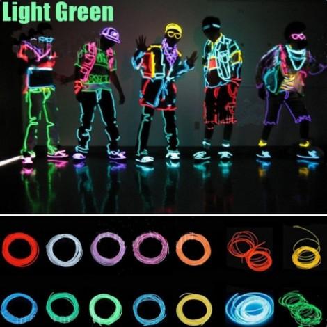 3M Flexible Neon EL Wire Light Dance Party Decor Light Green