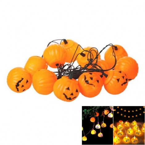 Halloween Prop 16 Pieces Halloween Prop Plastic Pumpkin Lights