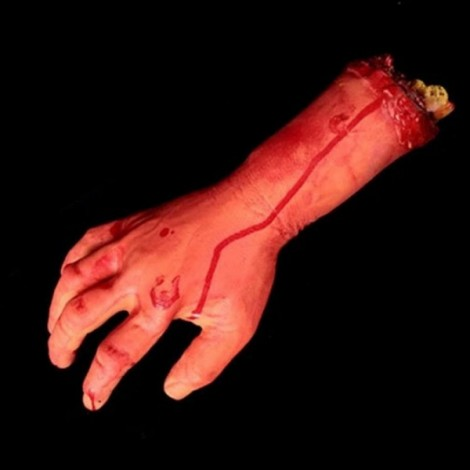 New Halloween Horror Props Bloody Hand Haunted House Party Decoration Scary Faked Human Arm Finger Leg Foot