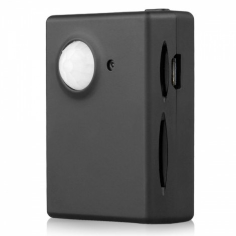 Mini PIR Photographing MMS Conjoined Alarm System Black