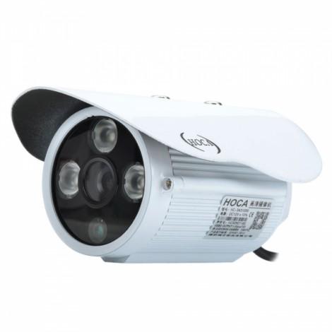 "HOCA HC-3A31099 Waterproof 1/4"" CMOS 3.0MP 1200TVL CCTV Camera Monitor with 3 IR-LED White"
