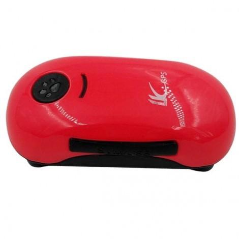 Mini IP6X Waterproof Anti-Lost GPS Tracker for Elders / Kids / Pets / Cars Red
