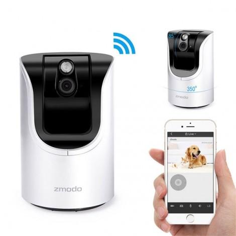 Zmodo ZH-IZV15-WAC 720P Pan-Tilt IR Night Vision IR-CUT Wi-Fi Waterproof Wireless IP Camera White