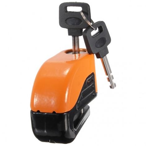 6mm Motorcycle Motorbike Disc Electron Security Lock Alarm Orange