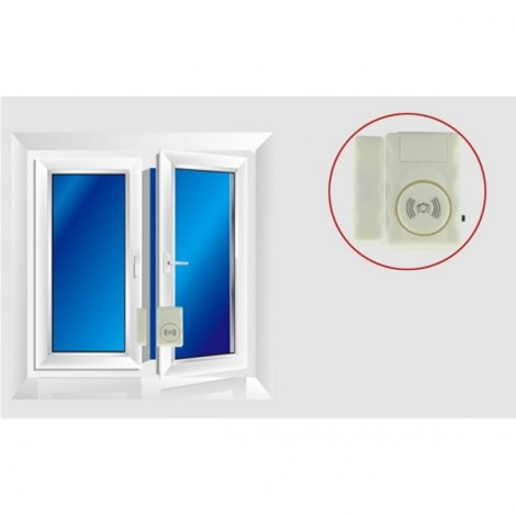 Home Security Magnetic Sensor Window Door Entry Alarm Warning System White