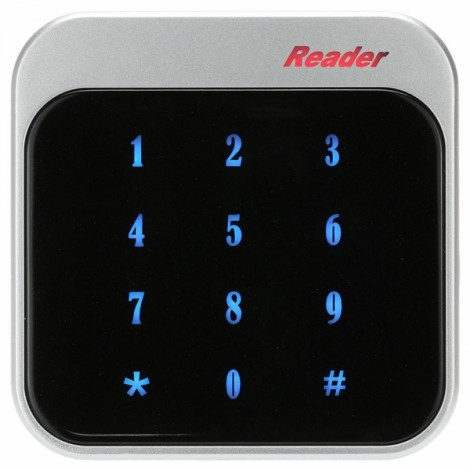 RFID 13.56MHz Proximity Smart IC Card Reader Touch Keyboard Wiegand26/34 for Door Entry Access Control System Black