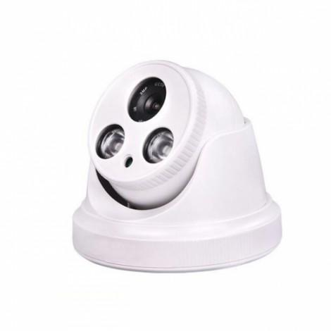 1200TVL 1/4 CMOS 2LED Night Sight 3.6mm Lens Indoor Waterproof Camera White