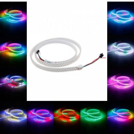 WS2811B 1M 144-LED SMD5050 RGB Waterproof Flexible LED Light Strip White PCB (5V)