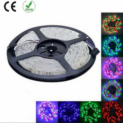 HML 5M 24W 300xSMD 3528 Water Resistant Flexible RGB LED Strip Light with 44 Keys Remote Controller US Plug